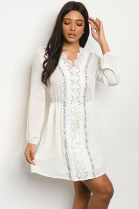 SA3-0-1-D70260 OFF WHITE DRESS 2-2-2