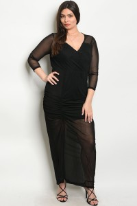 S10-3-2-D3292X BLACK PLUS SIZE DRESS 2-2-2
