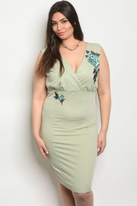 C1-A-3-D12363X SAGE PLUS SIZE DRESS 2-2-2