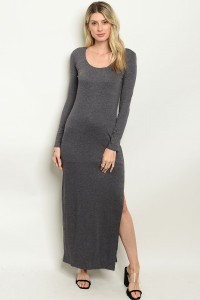 135-3-1-D11294 DARK GRAY DRESS 3-2-1