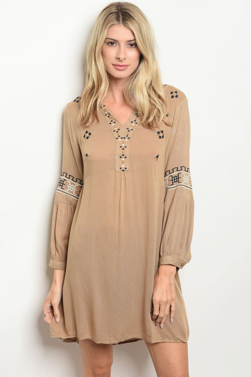 S20-2-1-D32281 TAUPE DRESS 2-2-2