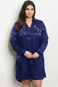 S17-10-4-D51304X NAVY PLUS SIZE TOP 2-2-2