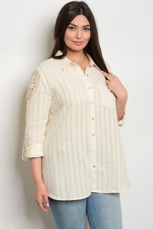 125-3-5-T10580P NATURAL PLUS SIZE TOP 2-2-2