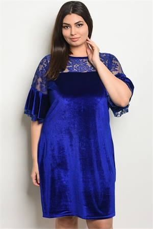 S19-8-2-D5083X ROYAL VELVET PLUS SIZE DRESS 2-2-2