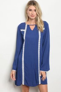 S11-18-2-D8511 INDIGO OFF WHITE DRESS 2-2-2
