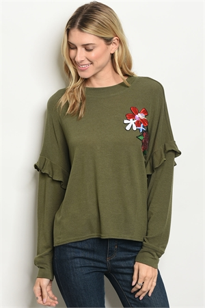 S14-2-5-T23462 OLIVE TOP 2-2-2