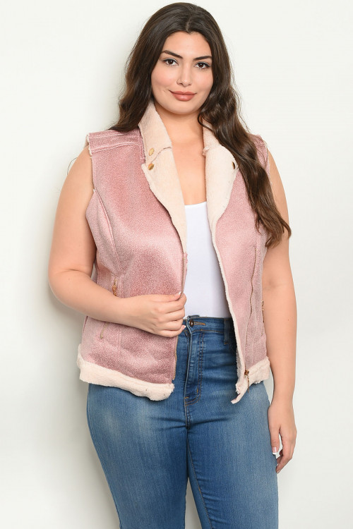 110-5-2-V16665X ROSE PLUS SIZE VEST 2-2-2