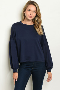 112-3-3-T21308 NAVY SWEATER 2-2-2