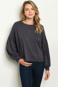S10-8-3-T21308 CHARCOAL SWEATER 2-2-2