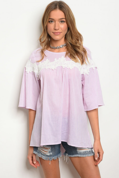110-4-4-T70381 PINK WHITE TOP 2-2-2