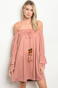 S20-9-1-D41893 BLUSH SUEDE DRESS 2-2-2