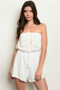S21-12-2-R20797 OFF WHITE ROMPER 3-2-1