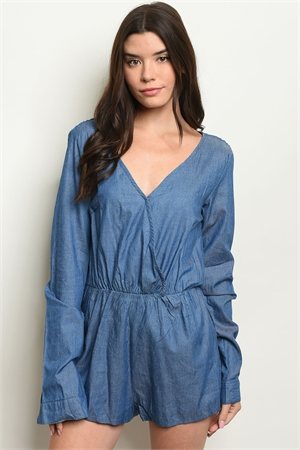 S2-10-3-R109 BLUE DENIM ROMPER 2-2-2