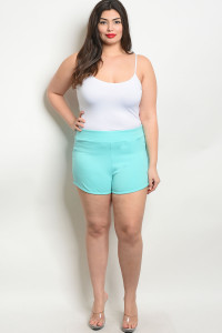 C8-B-5-S7895X AQUA PLUS SIZE SHORT 2-2-