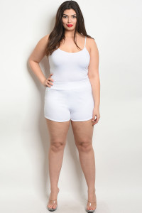 C8-B-5-S7895X WHITE PLUS SIZE SHORT 2-2-2