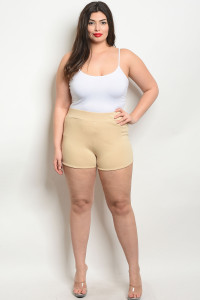 C4-B-3-S7895X TAN PLUS SIZE SHORT 2-2-2