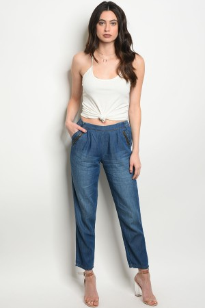 S14-10-2-P5549 BLUE DENIM PANTS 3-2-1