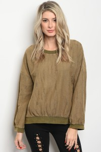 S7-1-1-T23642 OLIVE SWEATER 2-2-1