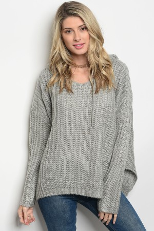 S8-4-5-S0050 GRAY KNIT SWEATER 4-2