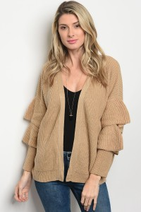 S11-13-1-C2471 TAUPE SWEATER CARDIGAN 2-2-2