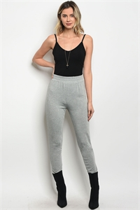 135-3-3-P61861 HEATHER GRAY PANTS 2-3