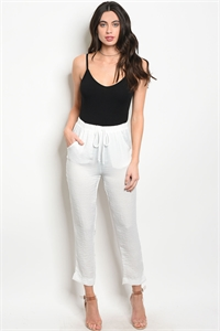 C100-A-7-NA-P70244 OFF WHITE PANTS 3-2-1