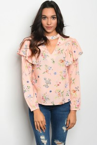 S16-11-5-T9149 PINK FLORAL TOP 2-2-2