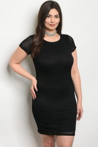 C76-A-3-D23021X BLACK PLUS SIZE DRESS 2-2-2