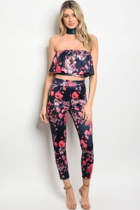 S3-5-2-SET7157 NAVY FLORAL TOP & PANTS SET 3-2-1