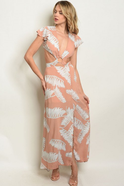 S15-5-1-D8718 PEACH OFF WHITE DRESS 3-2-1