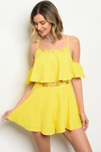 128-3-3-R10550 YELLOW ROMPER 2-2-2