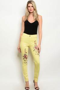 112-3-4-J7035 YELLOW JEANS 2-2-2