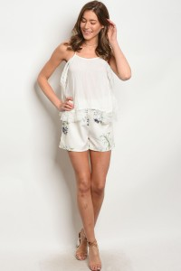 S10-14-1-S1066 IVORY FLORAL SHORTS 2-2-2