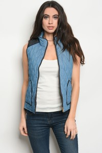 S2-9-2-V8193 BLUE DENIM VEST 2-2-2
