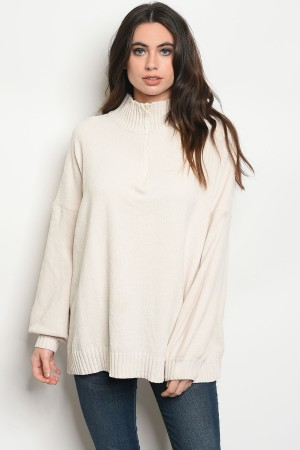 129-2-3-S9112 IVORY SWEATER 2-2-2