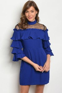 118-3-1-D1762 ROYAL RUFFLE DRESS 2-2-2