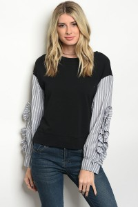 S4-1-1-T21351 BLACK GRAY TOP 2-2-2
