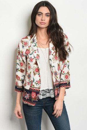 S11-20-5-J59158 IVORY WITH FLOWER JACKET 2-2-2