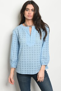 S11-17-5-T59153 LIGHT BLUE TOP 1-2-2-1