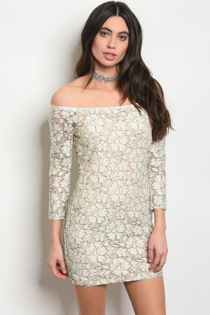 107-1-2-D96146 CREAM NUDE DRESS 3-2-1