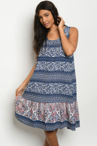 S11-1-2-D22642 NAVY MULTY DRESS 2-2-2