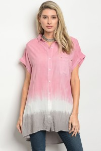 S11-2-3-T4452 PINK GRAY TOP 2-2-2