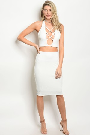 C72-A-2S915M46 IVORY SKIRT 3-2-1  ***TOP NOT INCLUDED***