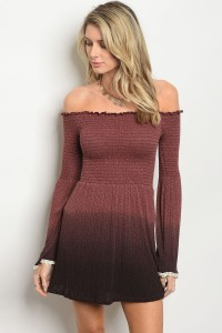 C75-A-5-D4226 MAUVE TIE DYE DRESS 3-2-1