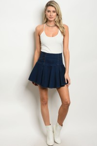 113-3-1-S1501 DENIM BLUE SKIRT 2-2-2