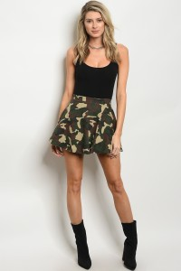 113-3-1-S007 OLIVE CAMOUFLAGE SKIRT 2-2-2