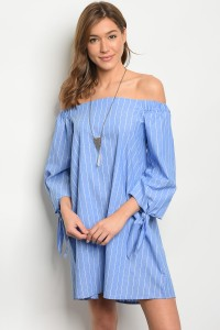 C61-A-5-D8179 BLUE WHITE STRIPES DRESS 2-2-2