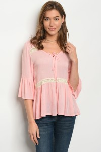 134-2-1-T3259 PINK TOP 1-2-2