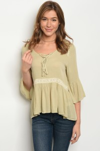 134-2-1-T3259 OLIVE TOP 2-3-2