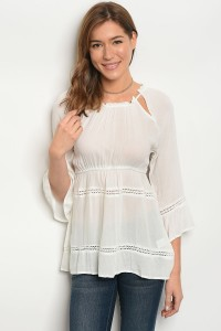 S13-9-1-T3235 OFF WHITE TOP 2-2-2